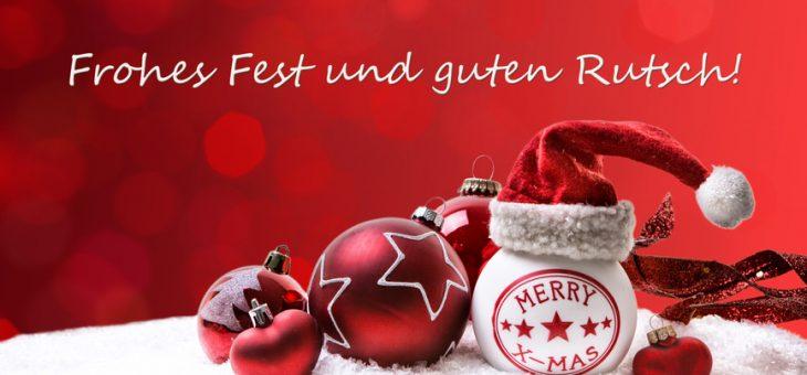 Fröhliche Weihnachten und einen guten Rutsch ins Jahr 2019