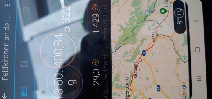 400 KM — Regensburg und zurück